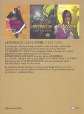 Coffret centenaire jules verne ; voyage sous les eaux t.1 et t.2 ; un drame en livonie - 4ème de couverture - Format classique