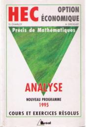Analyse - Couverture - Format classique