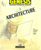 Genesis N.14 ; Architecture - Couverture - Format classique