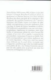 Lettres aux petites fermières - 4ème de couverture - Format classique