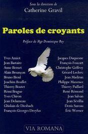 Paroles De Croyants - Intérieur - Format classique