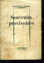 Souvenirs Provisoires. - Couverture - Format classique