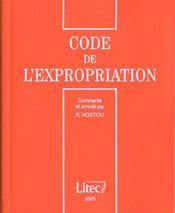 Code de l'expropriation 2000 - Intérieur - Format classique