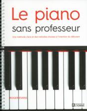 Le piano sans professeur - Couverture - Format classique