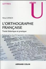 L'orthographe française - Couverture - Format classique