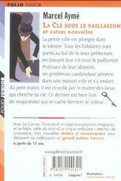 La Cle Sous Le Paillasson Et Autres Nouvelles - 4ème de couverture - Format classique
