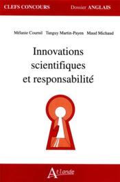 Innovations scientifiques et responsabilité - Couverture - Format classique