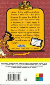 Papyrus T.6 ; Le Reveil Du Sphinx Rouge - 4ème de couverture - Format classique
