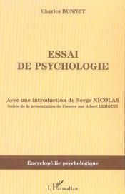 Essai de psychologie - Intérieur - Format classique