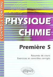 Controle Continu ; Physique-Chimie ; 1ère S - Intérieur - Format classique