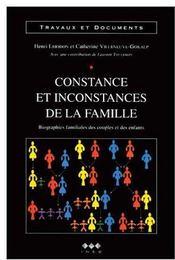 Cahiers t.134 ; constance et inconstances de la famille - Couverture - Format classique