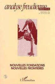 Nouvelles fondations, nouvelles frontières - Couverture - Format classique