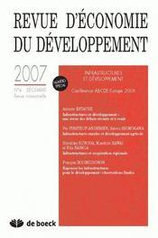 Revue D'Economie Du Developpement ; Revue D'Economie Du Développement ; Décembre 2007 - Intérieur - Format classique