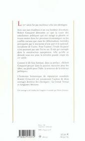 Le féroce XX siècle ; réflexions sur les ravages des idéologies - 4ème de couverture - Format classique