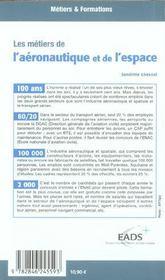 Les métiers de l'aéronautique et de l'espace (édition 2005/2006) - 4ème de couverture - Format classique