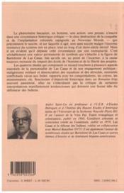 Las Casas Indigenistes : Etudes Sur La Vie ... - 4ème de couverture - Format classique