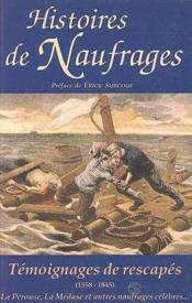 Histoires de naufrages - Couverture - Format classique