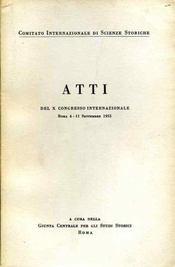 Congrès international des sciences historiques. - Intérieur - Format classique
