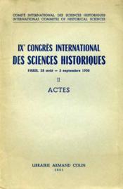 Congrès international des sciences historiques. - Couverture - Format classique