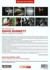 100 photos de David Burnett pour la liberté de la presse - 4ème de couverture - Format classique