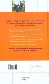 Le Guide Hachette Du Chat - 4ème de couverture - Format classique
