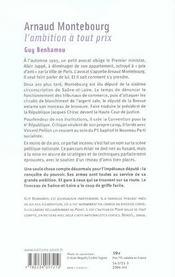 Arnaud Montebourg ; l'ambition à tout prix - 4ème de couverture - Format classique