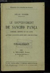 Le Gouvernement de Sancho Pança. Comédie Bouffe en 1 acte, avec couplets et choeurs. - Couverture - Format classique