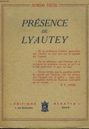 Presence De Lyautey - Couverture - Format classique