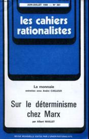 Les Cahiers Rationalistes N°361 - Sur Le Determinisme Chez Marx - Couverture - Format classique