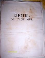 L'Hôtel de l'âge mur. - Couverture - Format classique