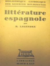 Littérature espagnole. - Couverture - Format classique
