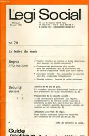 Legi Social N°79 - Couverture - Format classique