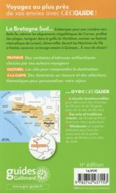 Geoguide ; Bretagne Sud ; Nantes, Vannes, Quimper - 4ème de couverture - Format classique