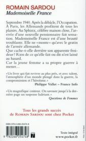Mademoiselle France - 4ème de couverture - Format classique