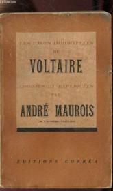 Les Pages Immortelles De Voltaire Choisies Et Expliquee - Couverture - Format classique