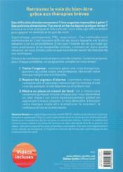Le pouvoir des thérapies brèves ; troubles du sommeil, angoisses, émotions négatives - 4ème de couverture - Format classique