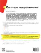 Cas cliniques en imagerie thoracique - 4ème de couverture - Format classique