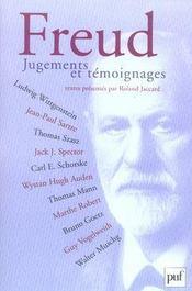 Freud. jugements et témoignages - Intérieur - Format classique
