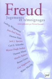 Freud. jugements et témoignages - Couverture - Format classique
