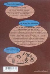 Le vocabulaire en jeux - 4ème de couverture - Format classique