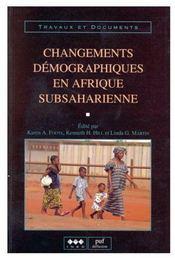 Changements démographiques en Afrique subsaharienne - Couverture - Format classique