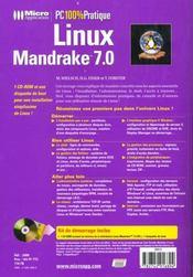100% prat. linux 7.0 - 4ème de couverture - Format classique