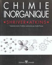 Chimie inorganique - Intérieur - Format classique