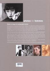 Photos de femmes - 4ème de couverture - Format classique
