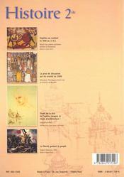 Histoire seconde - 4ème de couverture - Format classique