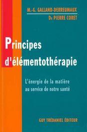 Principes D'Elementotherapie - Intérieur - Format classique