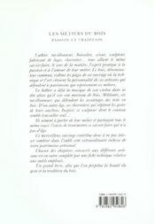 Les métiers du bois ; passion et tradition - 4ème de couverture - Format classique