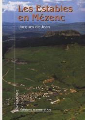 Les estables en Mézenc - Couverture - Format classique