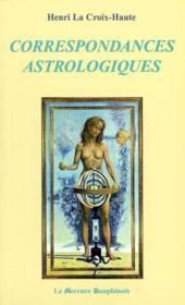 Correspondances astrologiques - Couverture - Format classique
