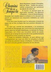 Chemins De Ce Temps-La. Memoire Ess. 2 - 4ème de couverture - Format classique